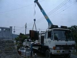 4トンクレーン付きトラック