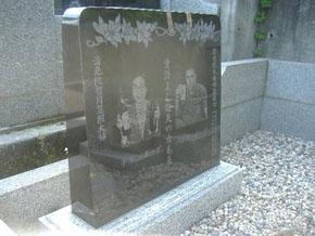 栃木県 佐野市 写真の彫刻と、花の彫刻を致しました。