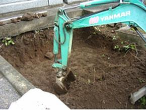 掘削 通常30センチ以上
